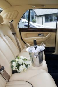 Rear of wedding car